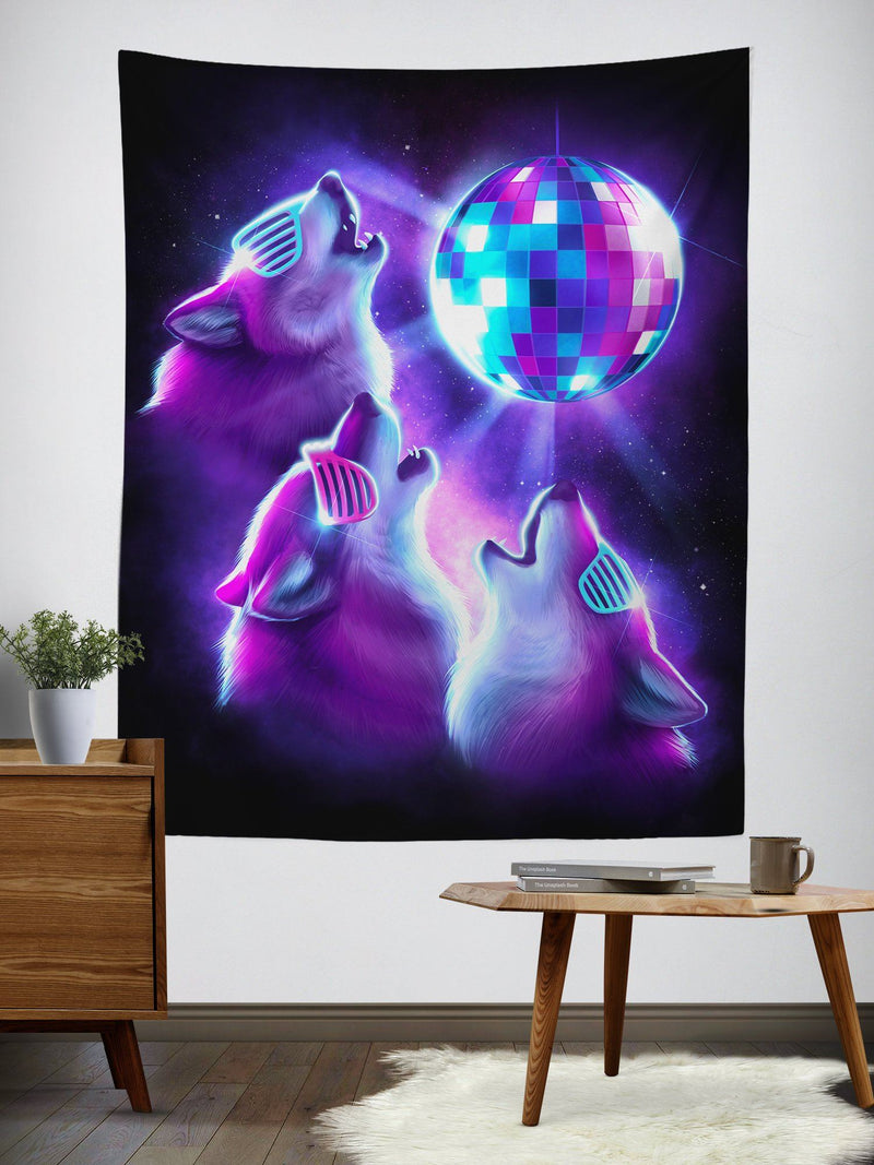 3 Wolf Disco Tapestry Tapestry Electro Threads