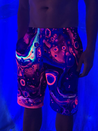 Acid Bath Neon Shorts Mens Shorts Electro Threads