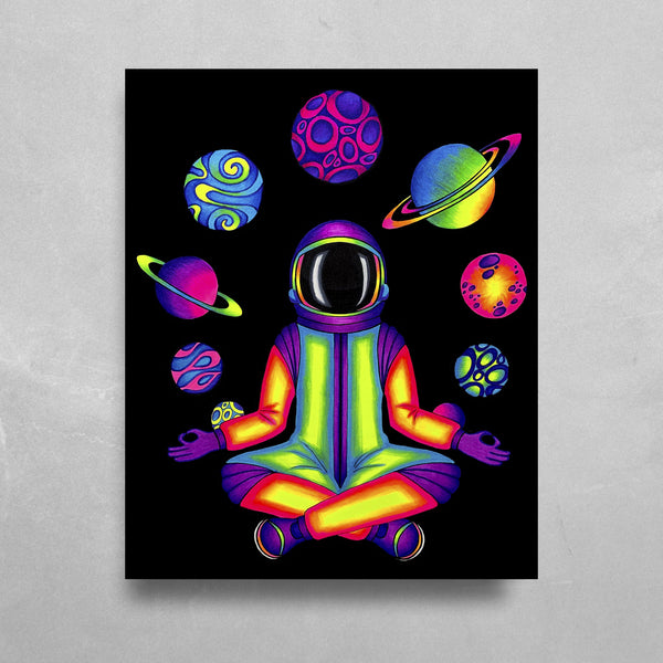 Acidnaut HD Metal Panel Print Ready to Hang HD Metal Print Electro Threads