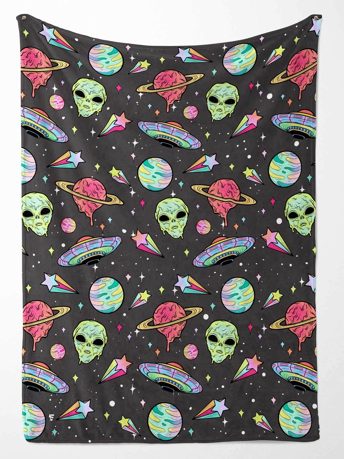 Alien Drip Party Blanket Blanket Electro Threads
