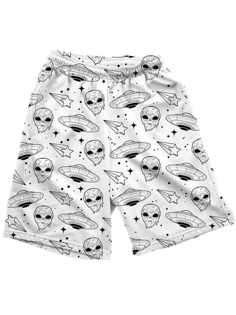 Alien Drip (White) Shorts Mens Shorts Electro Threads