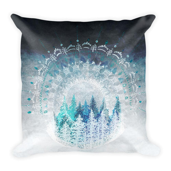 Among the Pines Mandala Square Pillow Throw Pillow Printful Default Title