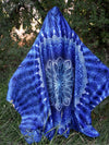 Aqua Glowing Mandala Hooded Blanket Hooded Blanket Electro Threads