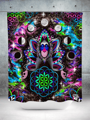 Astral Rafiki Shower Curtain Shower Curtains Electro Threads