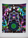 "Astral Rafiki Tapestry Tapestry Electro Threads S: 32"" x 42"" Black"
