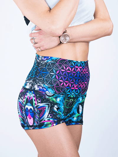 Astral Rafiki Yoga Shorts Yoga Shorts T6 XS High Waist Black