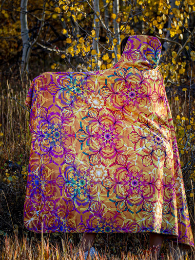 Autumn Mandala Hooded Blanket Hooded Blanket Electro Threads