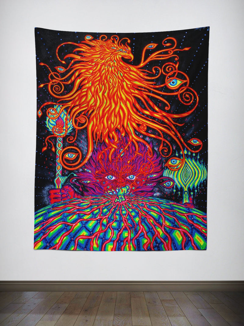 Awakening Wall Tapestry Tapestry Electro Threads