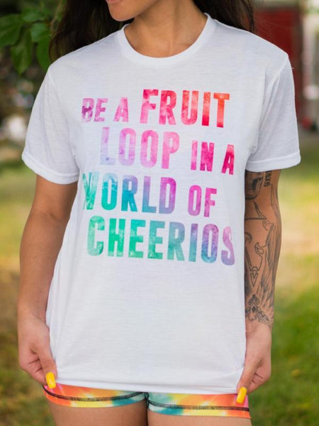 Be a Fruit Loop Unisex Crew T-Shirts Electro Threads