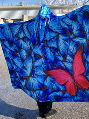 Beautiful Butterfly Hooded Blanket Hooded Blanket Electro Threads