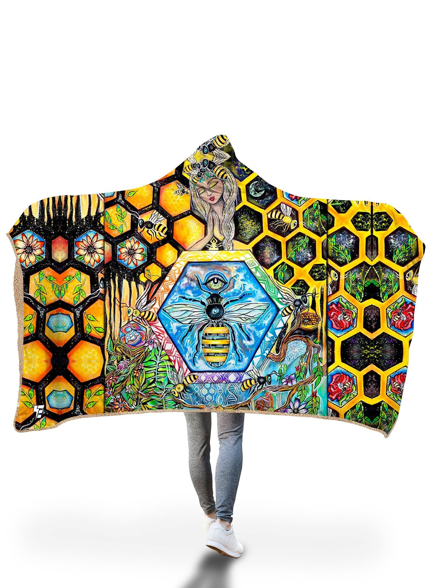 Bee Conscious Hooded Blanket Hooded Blanket Electro Threads