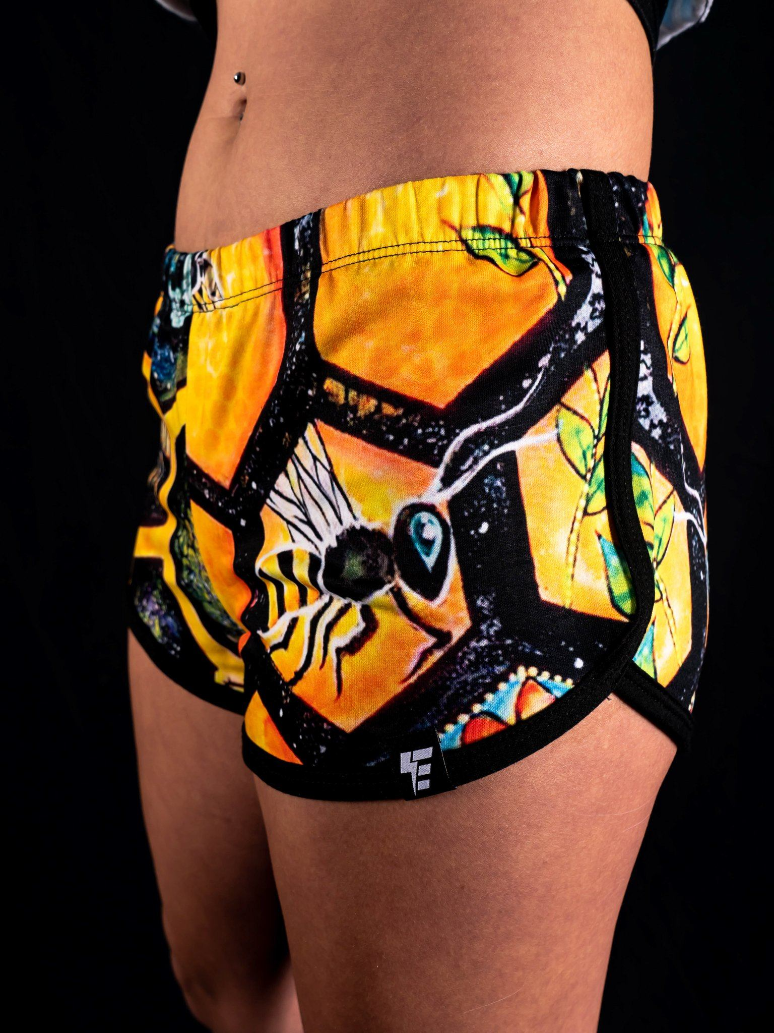 Bee Conscious Retro Shorts Women's Shorts Electro Threads