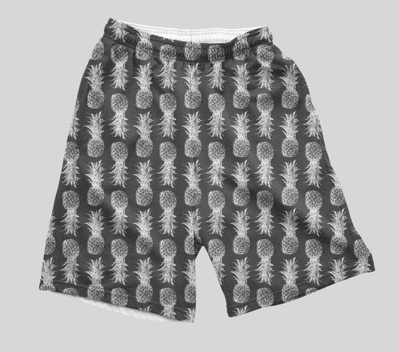 Black and White Pineapple Shorts Mens Shorts T6