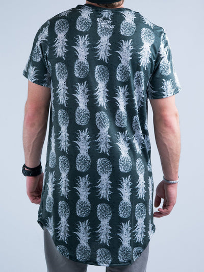 Black and White Pineapple Tall Tee Mens Tall Tee T6