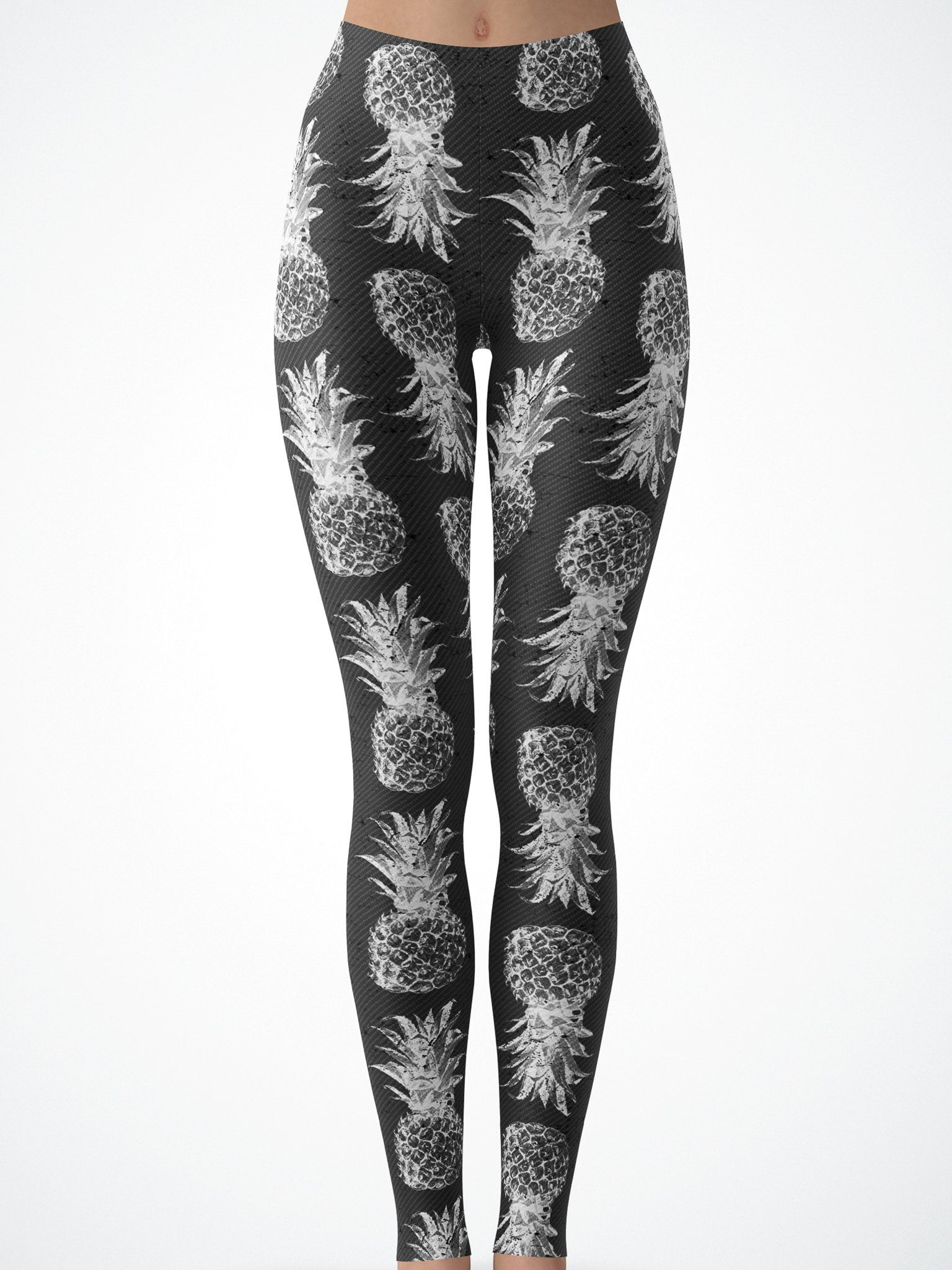 Black and White Pineapple Tights Tights T6