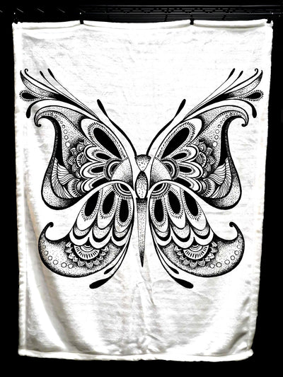 Black Butterfly Baby Blanket Baby Blanket Electro Threads