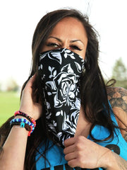 Black Rose Bandana Bandanna Electro Threads