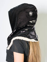Black / Silver Sequin Hood Sequin Hood Electro Threads