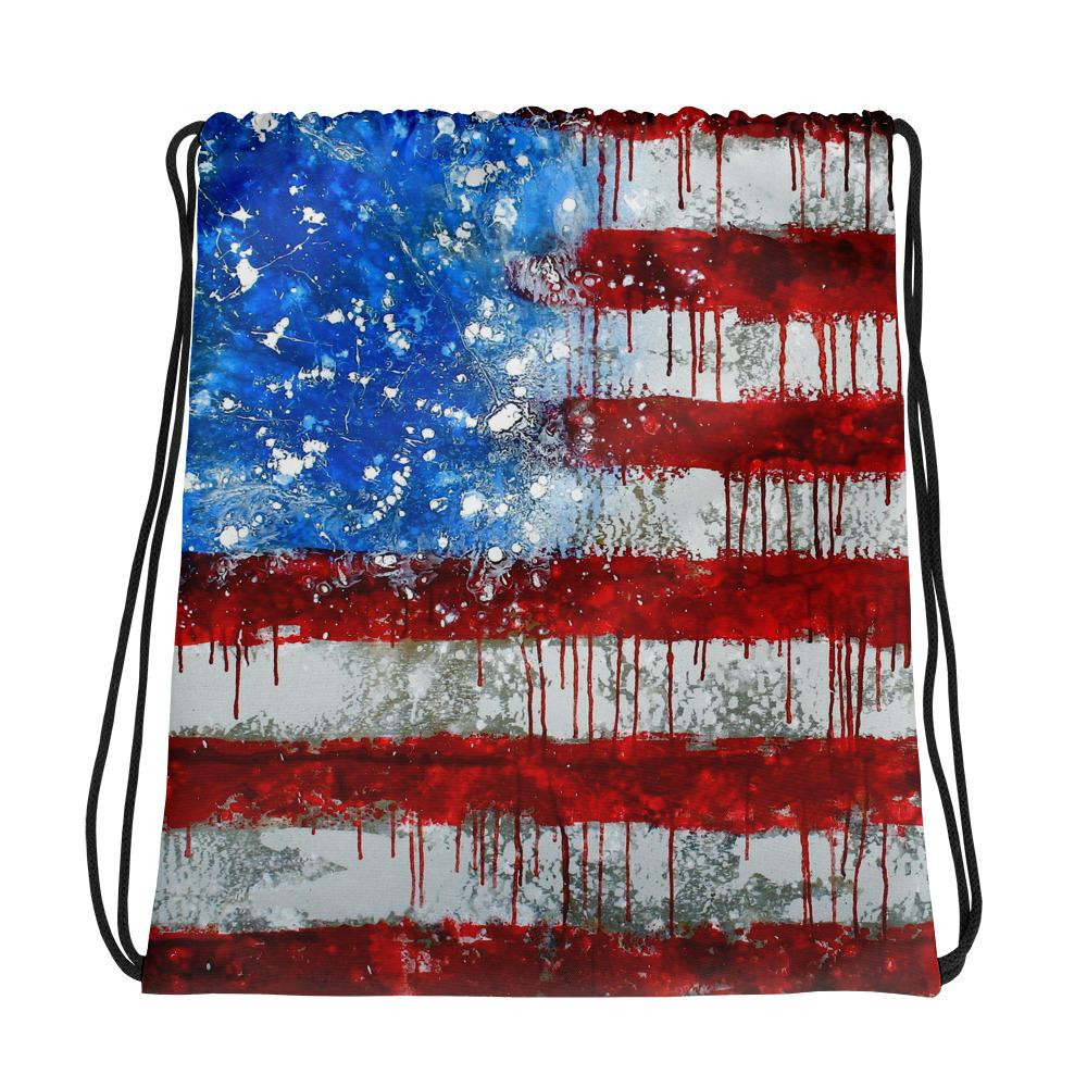 Bleed America Draw String Shoulder Bag Shoulder Bag Electro Threads