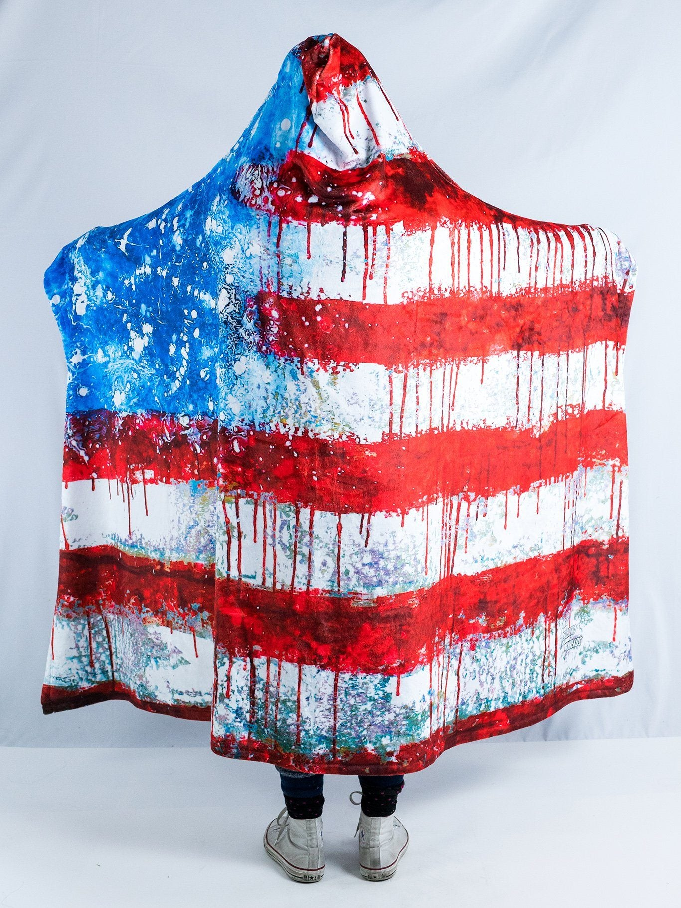 Bleed America Hooded Blanket Hooded Blanket Electro Threads