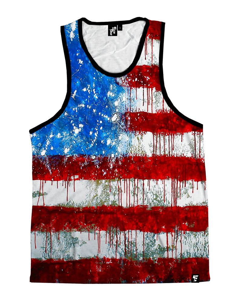 Bleed America Unisex Tank Top Tank Tops T6 XS Red