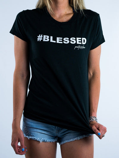 Blessed Black Unisex Crew T-Shirts Electro Threads