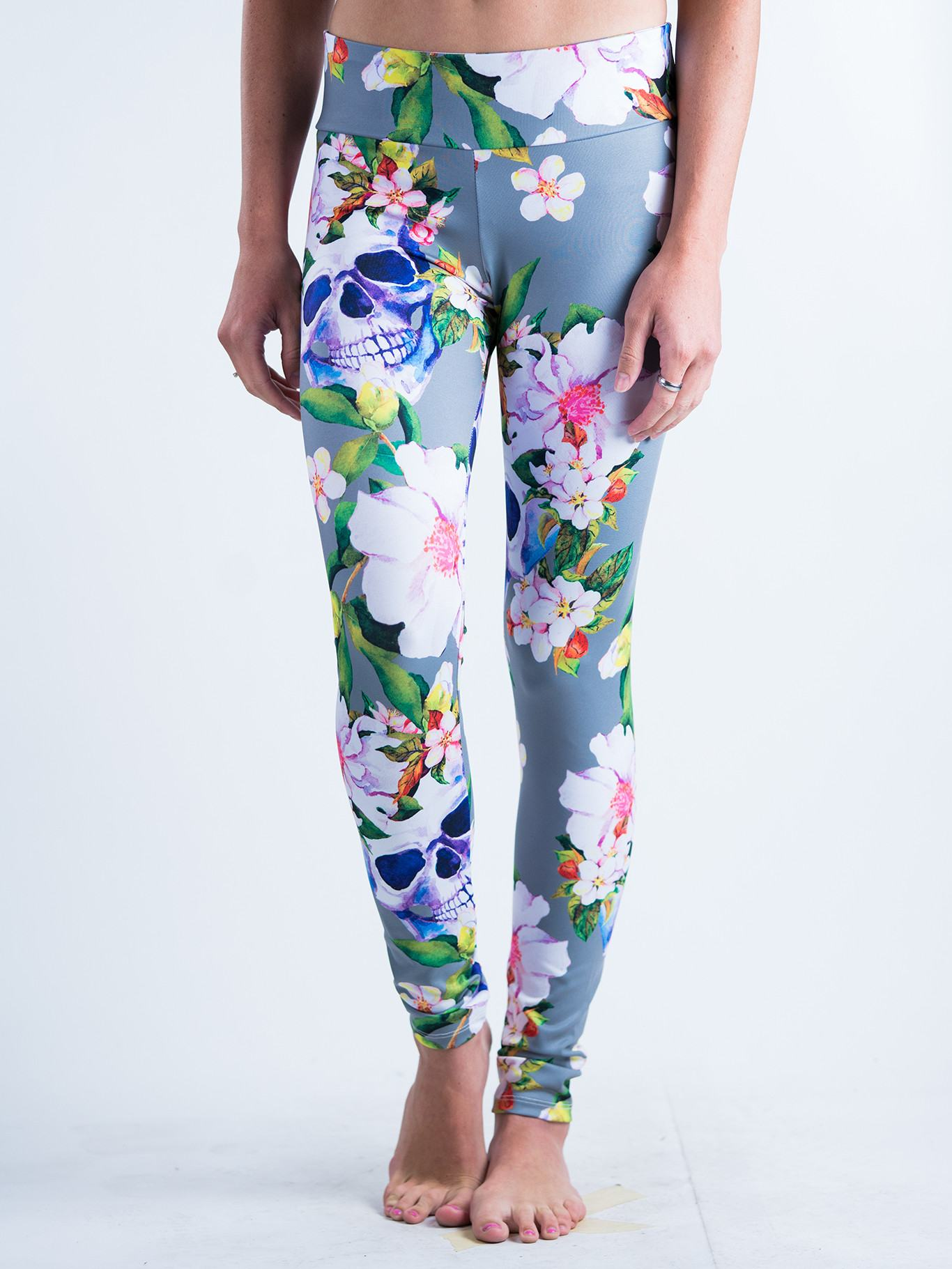 Blooming Skulls Leggings Leggings T6