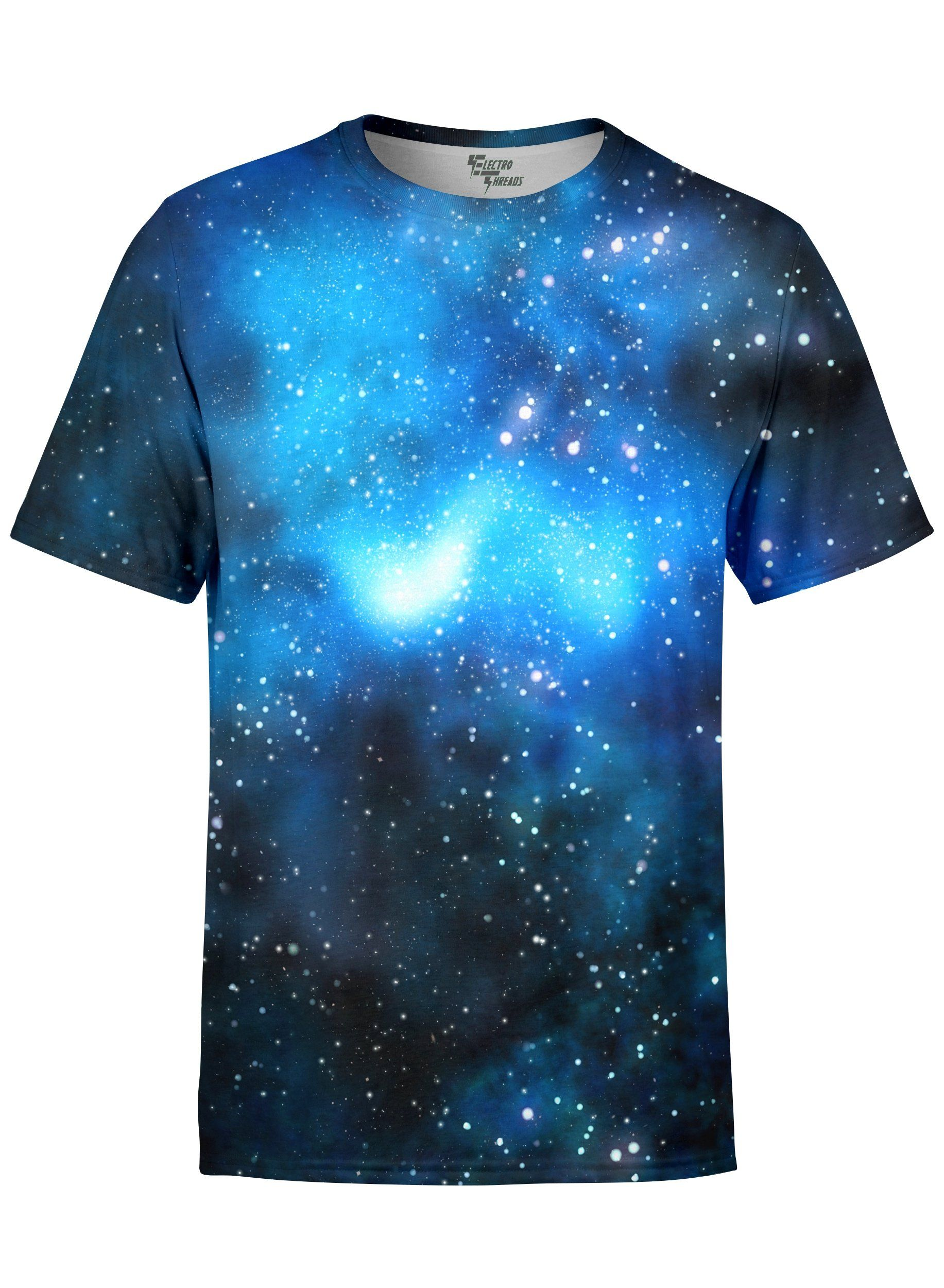 Blue Galaxy Unisex Crew T-Shirts T6