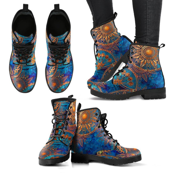 Blue Gold Boots Electro Threads