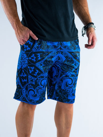 Blue Mandala Shorts Mens Shorts T6