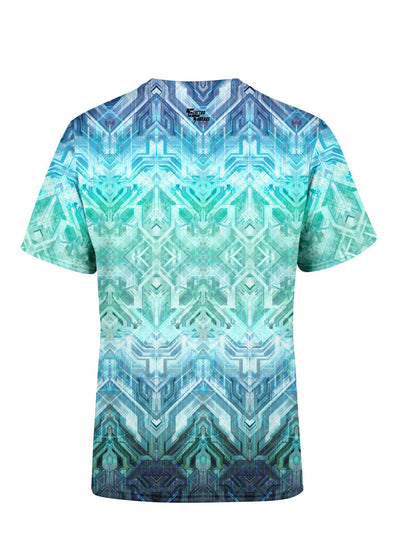 Blue Matrix Unisex Crew T-Shirts Electro Threads