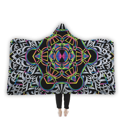 Brizatron's Cube Hooded Blanket Hooded Blanket Electro Threads