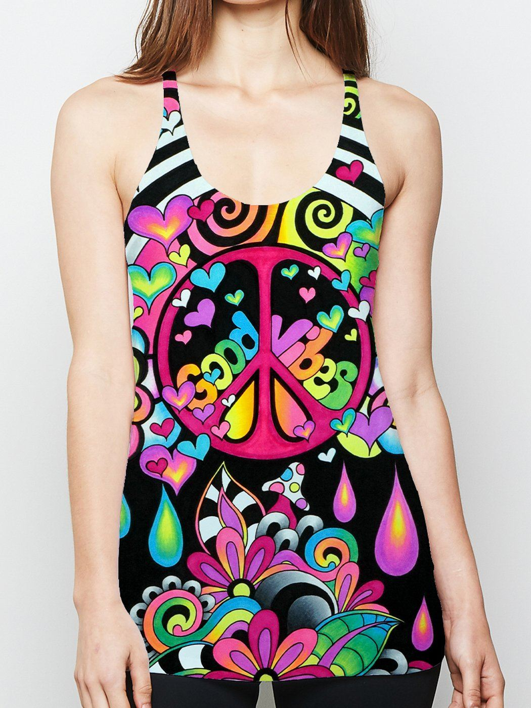 Brizmosphere Racerback Tank Top Tank Tops Electro Threads
