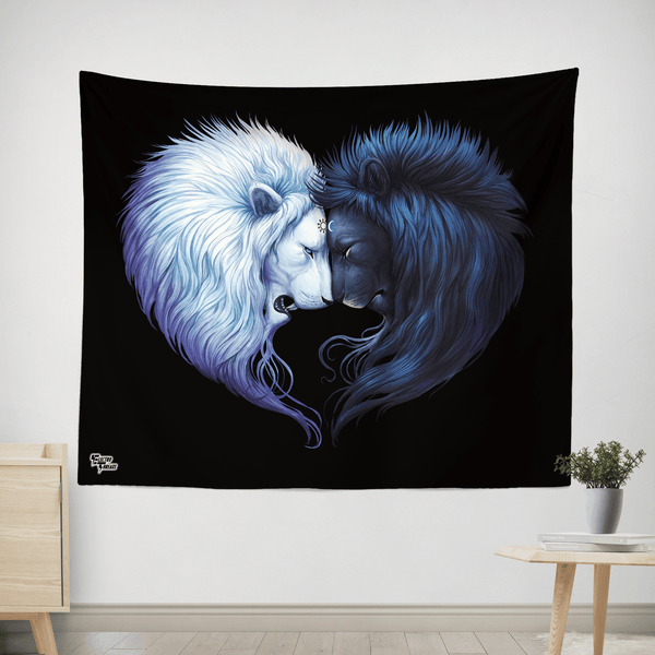 "Brotherhood Tapestry Tapestry Electro Threads S: 32"" x 42"" Black"