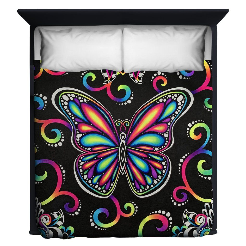 Butterfly Vibez Blanket Blanket Electro Threads