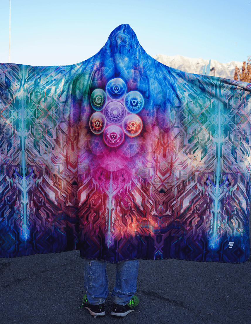 Chakra Balls Hooded Blanket Hooded Blanket Electro Threads