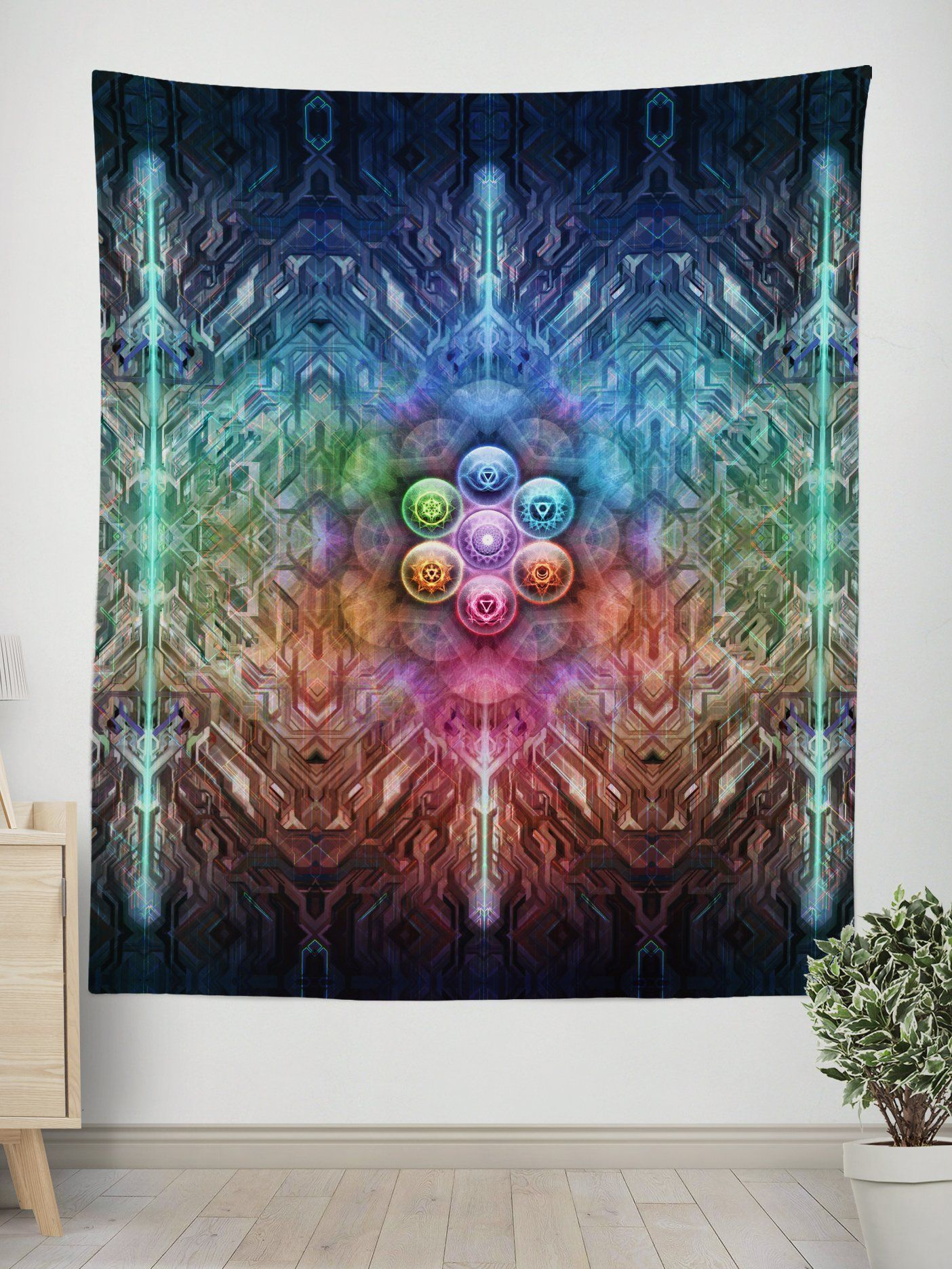 Chakra Ballz Wall Tapestry Tapestry Electro Threads