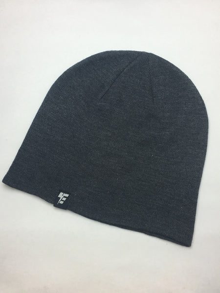Charcoal Slouch Beanie Hat Electro Threads