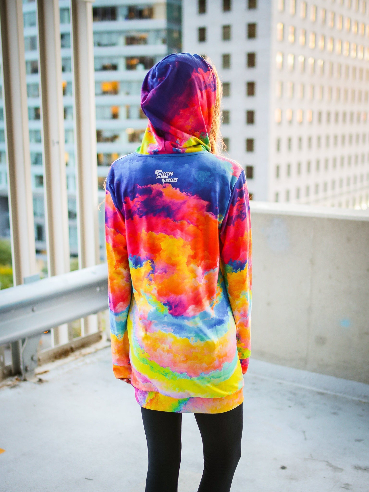 Color Storm Hooded Dress Hoodie Dress T6