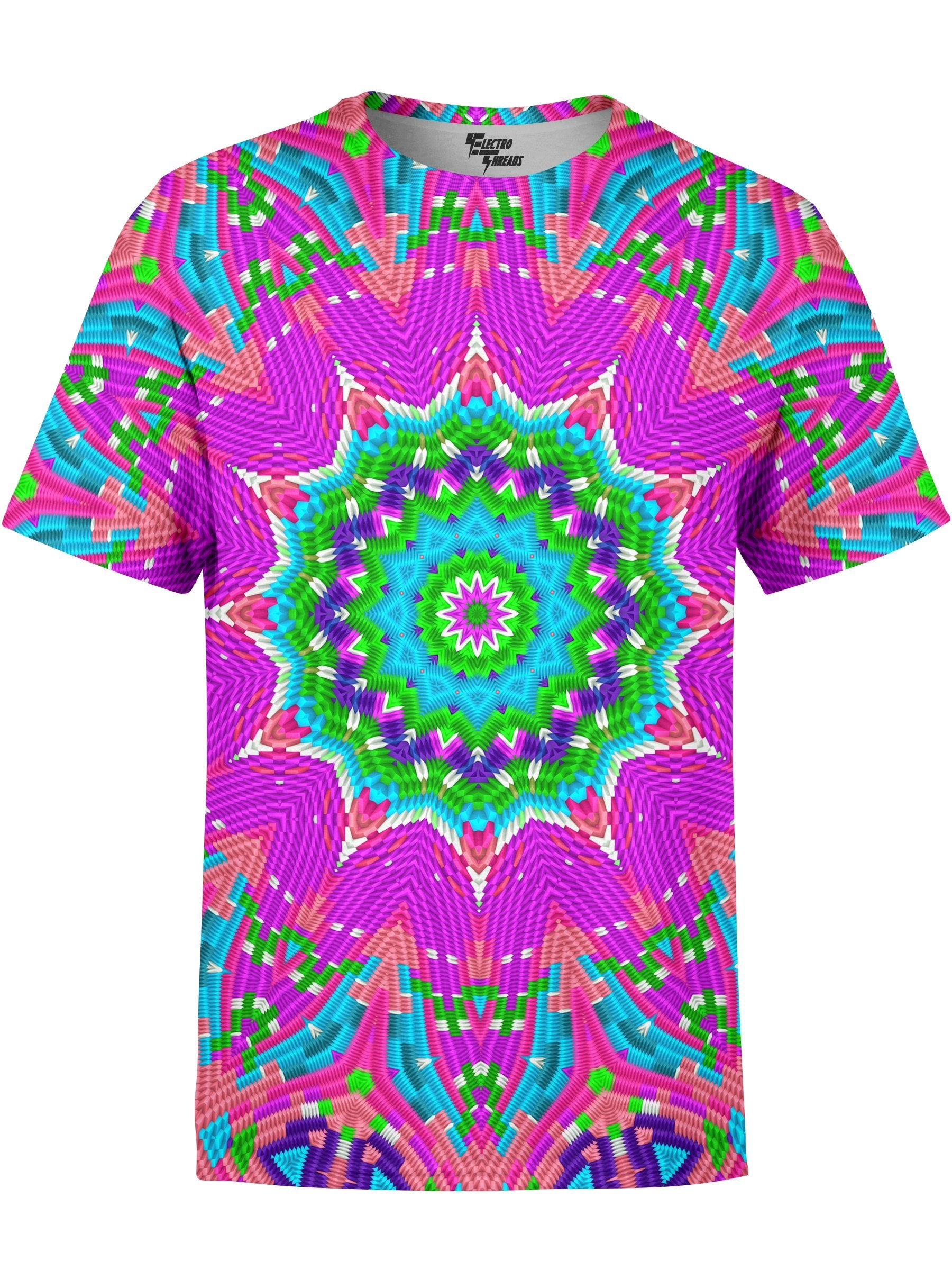 Colorful Blocks Mandala Unisex Shirt T-Shirts T6