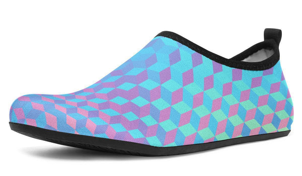 Colorful3d Aquabarefootshoes YWF Women's Aqua Barefoot Shoes Black Sole US 3-4 / EU34-45