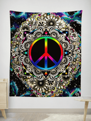 Connect + Tranquility Wall Tapestry BOGO Bundle Electro Threads