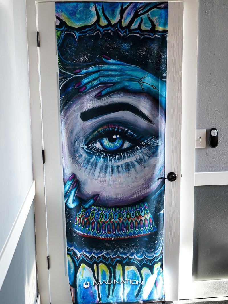 Conscious Rising Door Wrap Door Cover Electro Threads