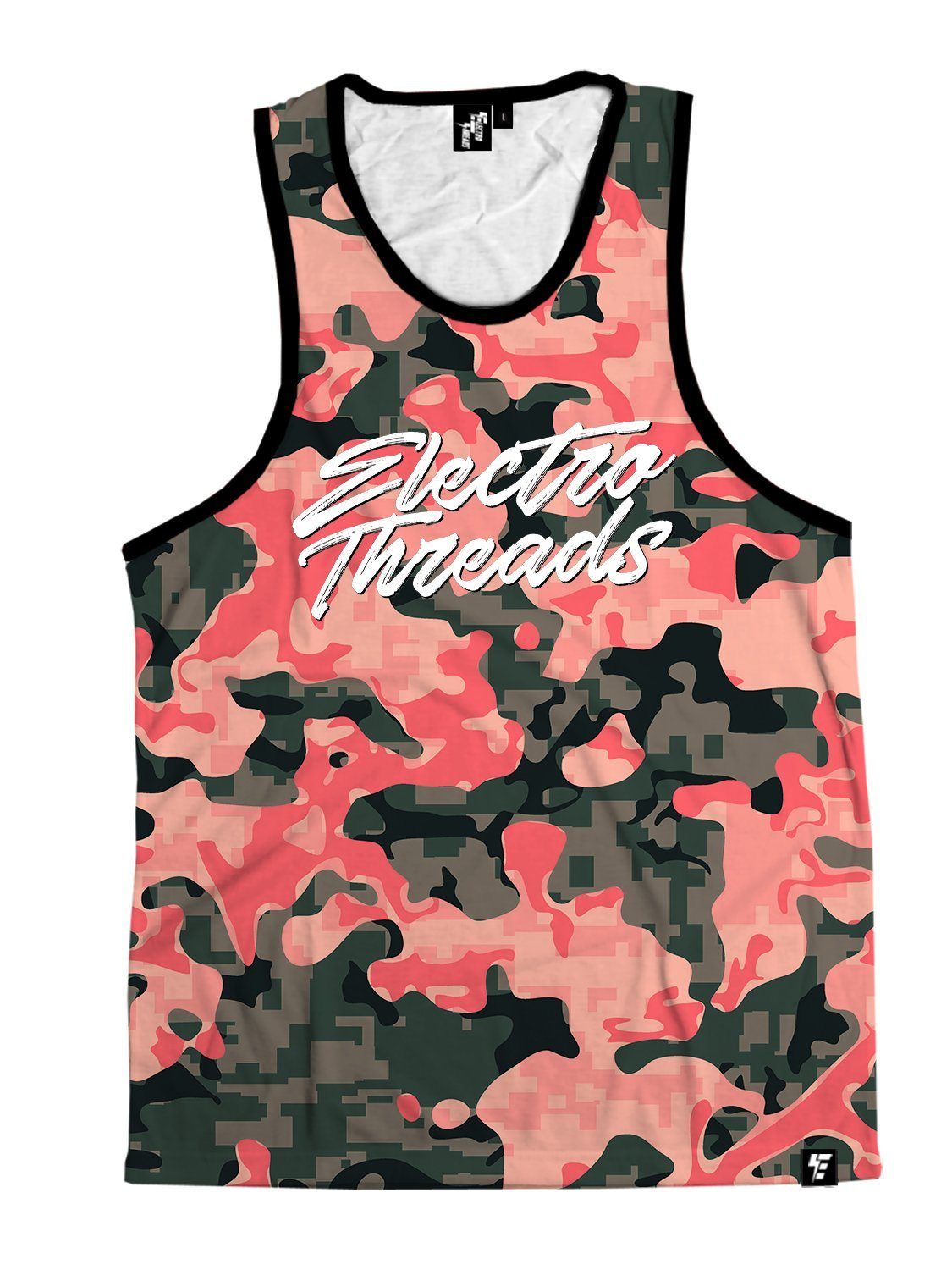 CORAL CAMO Unisex Tank Top Tank Tops T6