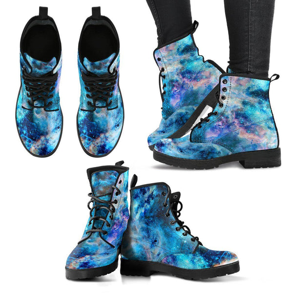 Cosmic Galaxy Women's Leather Boots Electro Threads