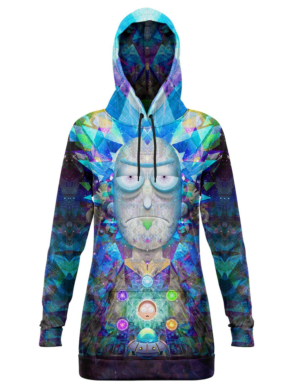 Cosmic Rick Hooded Dress Hoodie Dress Electro Threads