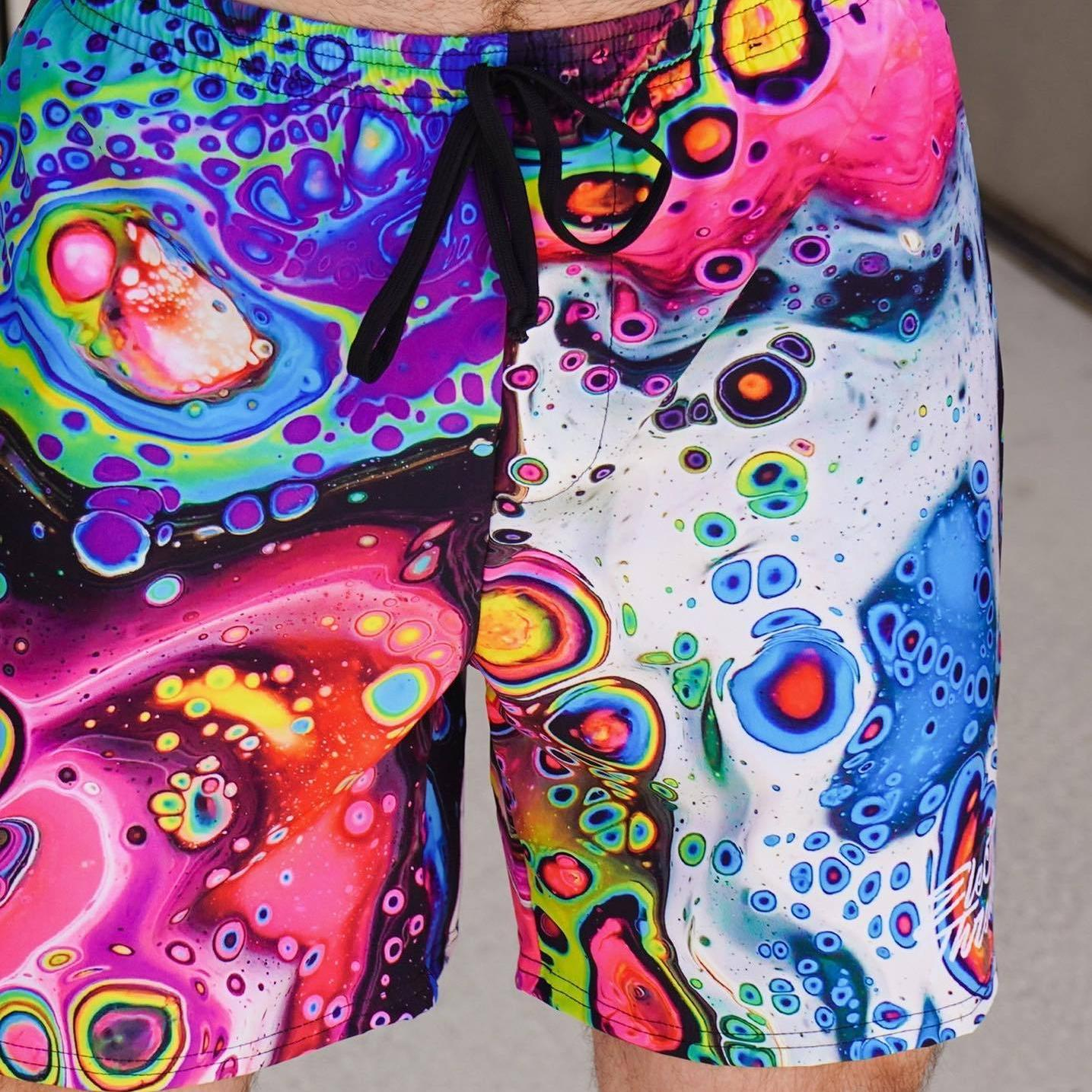 "Cosmic Trip 6"" Swim Trunks Mens Swim Trunks T6"