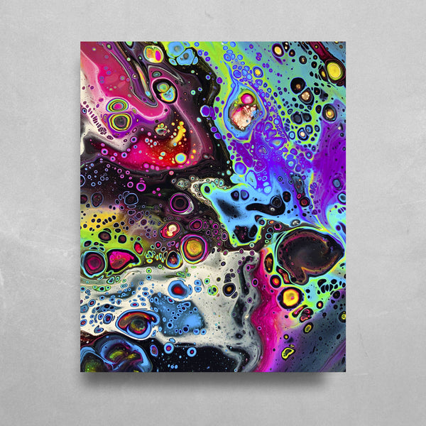 Cosmic Trip HD Metal Panel Print Ready to Hang HD Metal Print Electro Threads