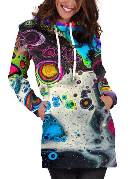 Cosmic Trip Hooded Dress Hoodie Dress T6