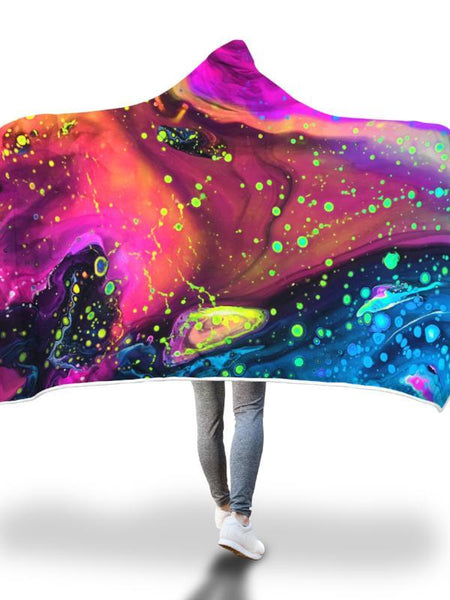 Cosmos Melt Hooded Blanket Hooded Blanket Electro Threads